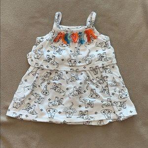 White elephant print dress
